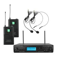 Sound Town 200-Channel Professional UHF Wireless Microphone System with 2 Headset Mics/Bodypacks, for Church, Business Meeting, Outdoor Wedding and Karaoke