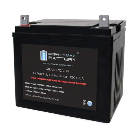 ML-U1-CCAHR - 12V 320 CCA U1 - SLA Starting Battery for Lawn, Tractors and Mowers - Mighty Max Battery Brand Product