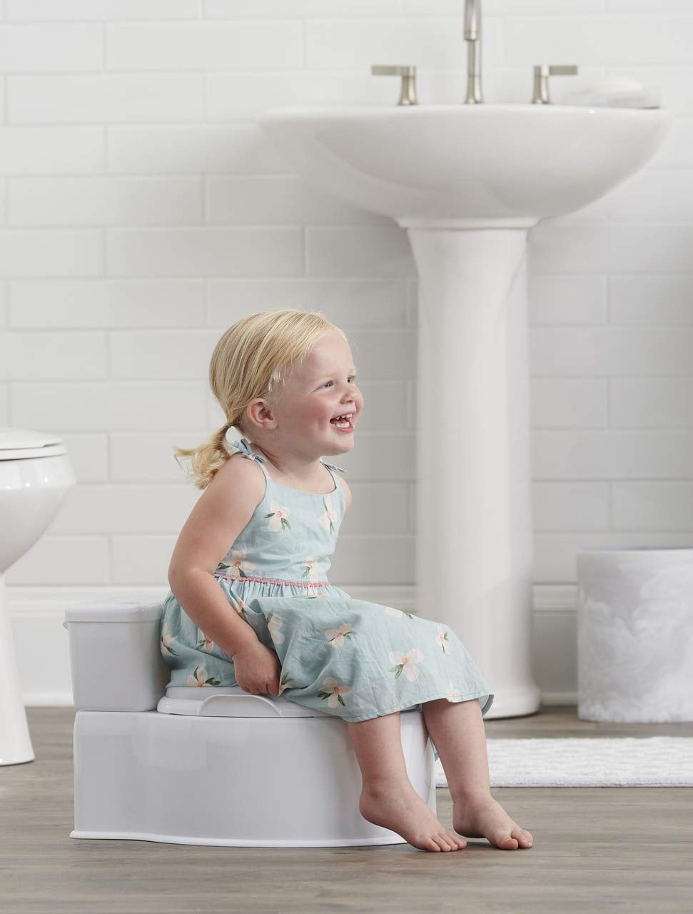 Regalo 2-in-1 My Little Potty Training & Transition Potty, Grow with Me & On The Go, Bonus Kit, Flushing Sound, Removable Training Transition Potty Seat, Oversized Foam Soft Seat & Wipe Storage,White