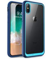 SUPCASE [Unicorn Beetle Style] Case Designed for iPhone Xs, iPhone X, Premium Hybrid Protective Clear Case for for iPhone X 2017 & iPhone Xs 5.8 inch 2018 Release (Blue)