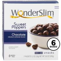 WonderSlim Weight Loss Meal Replacement Sweet Poppers Snacks - High Protein, Low Carb, Trans Fat Free, Gluten Free, Aspartame Free - Chocolate - 6 Box Value-Pack (Save 15%)