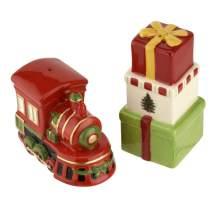 Spode Christmas Tree 2Pc Train & Gift Salt & Pepper Shaker…