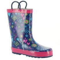 Western Chief Girls' Twinkle Stars Rain Boot-K, Purple,
