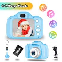 JOHURC Gifts for Boys Age 3 4 5 6 7 8, 2020 Christmas Kids Digital Camera,Toys for Boys 4 5 6 7 8 Year Old,12MP HD Camcorders,Blue(32GB SD Card Included)…