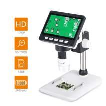 ESAKO 4.3 inch Digital Microscope 1000X Magnification USB Handheld Microscope 1080P Full HD Screen 2600mAh Rechargeable Battery 32GB for Kids Students