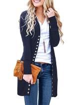 Chuhee Women's S-3XL Long Sleeve Knitwear Casual Cardigans