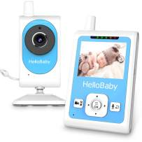 HelloBaby Wireless Video Baby Monitor with Motion Detection Alarm, Video Recording, Night Vision Camera, Two-Way Talk Audio, Temperature Monitoring and Long Transmission Range
