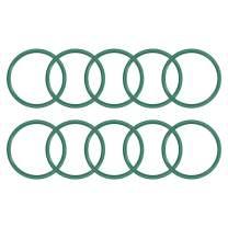 uxcell Fluorine Rubber O Rings, 37mm OD, 32.2mm Inner Diameter, 2.4mm Width, Seal Gasket Green 10Pcs