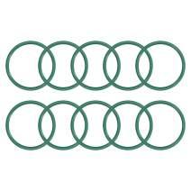 uxcell Fluorine Rubber O Rings, 40mm OD, 35.2mm Inner Diameter, 2.4mm Width, Seal Gasket Green 10Pcs