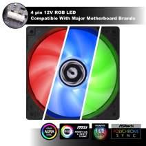 BitFenix Spectre RGB 120mm LED Case Fan Cooling (BFF-RGB-12025-RP)