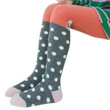 Looching Girls Footless Legging Pantyhose Ruffle Bow Cute Cable Knit Princess Baby Toddler Tights