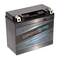 Rechargeable YTX20H-BS High Performance Power Sports Battery - Replacement Motorcycle Battery - Chrome Pro Battery