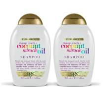 OGX Extra Strength Damage Remedy + Coconut Miracle Oil Shampoo & Conditioner Set, 13 Ounce