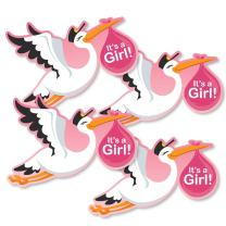 Girl Special Delivery - Decorations DIY Pink It's A Girl Stork Baby Shower Party Essentials - Set of 20