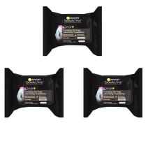 Garnier SkinActive Clean+ Charcoal Oil-Free Makeup Remover Wipes, 25 Count, 3 Pack