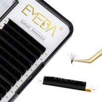 EMEDA Eyelash Extensions Self Blooming Lash Extensions Rapid Automatic Blooming Flower Volume Lash Extensions 0.05mm C Curl 8-14mm Self Fanning Lashes (0.05 C 8-14mm)