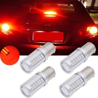 TUINCYN BAU15S PY21W LED Bulb Red Brake Light Bulb Super Bright 8000K 5630 33SMD 1156 7507 12496 5009 7507AST Turn Signal Light Back Up Reverse Light Parking Light DC 12V (Pack of 4)