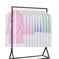Univivi Hanging Garment Bag 43 inch Suit Bag for Storage(Set of 10) Anti-Moth Protector, Washable Translucent Lightweight Garment Bags for Dress Suits, Jackets, T-Shirt, Sports Coats etc.