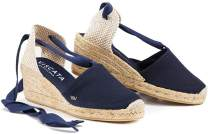 "VISCATA Handmade in Spain Escala 2.5"" Wedge, Soft Ankle-Tie, Closed Toe, Classic Espadrilles Heel"