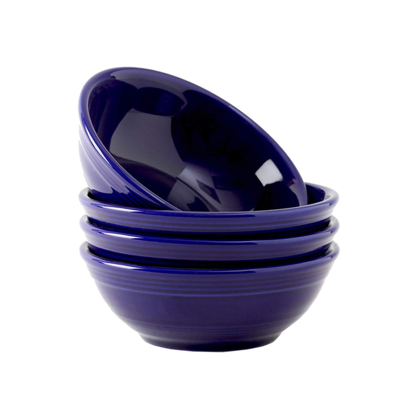 Tuxton Home Concentrix Bowl (Set of 4), 13 oz, Cobalt Blue; Heavy Duty; Chip Resistant; Lead and Cadmium Free; Freezer to Oven Safe up to 500F