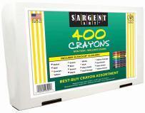 Sargent Art 22-3221 400-Count Best Buy Assortment Regular Crayon, 16 Colors
