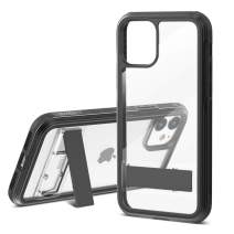 TGVi's Case for iPhone 11 Phone Case, Military Grade 12ft Drop Tested Protective Case with Kickstand, Support Wireless Charging, Shock-Proof, PC + TPU Material Case Compatible for iPhone 11, Black