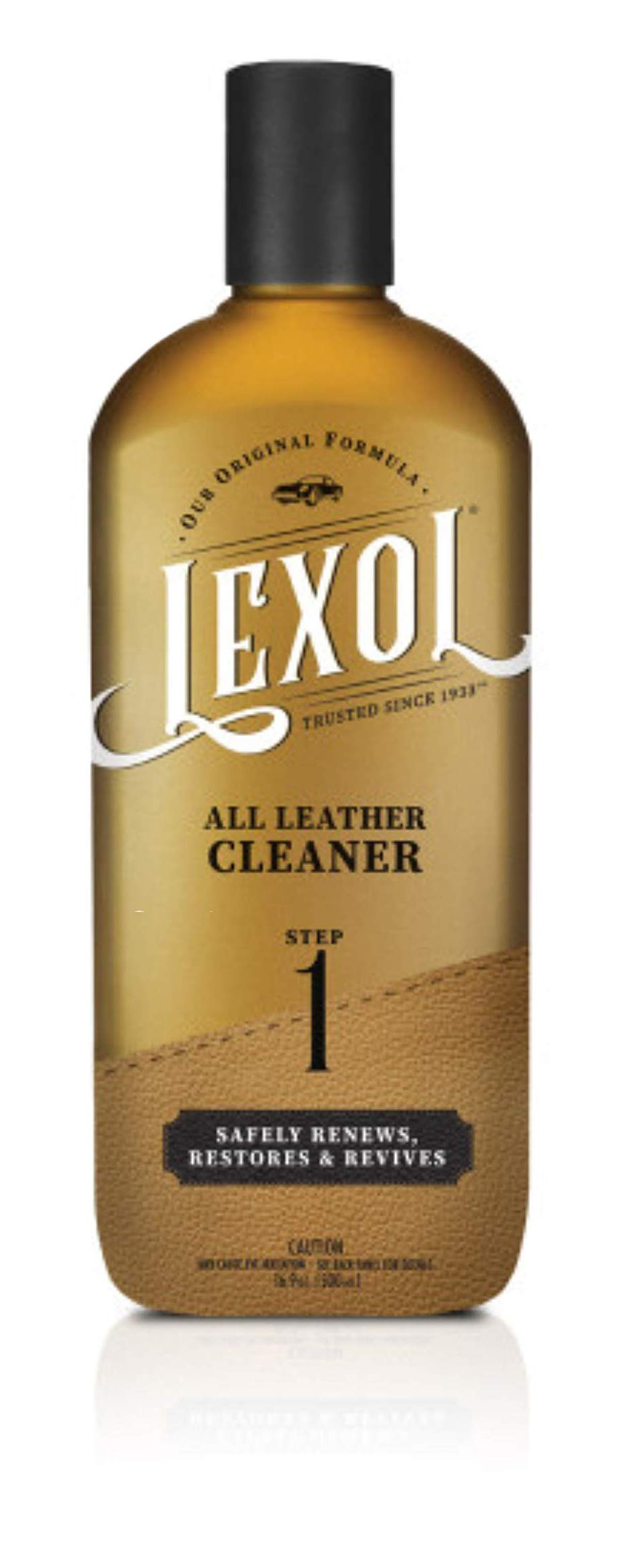 Lexol Leather Cleaner, 16.9 oz Best Cleaning and Conditioner Since 1933-For Use on Apparel, Furniture, Auto Interiors, Shoes, Bags and More