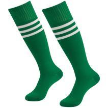 3street Unisex Knee High Triple Stripe Athletic Soccer Tube Sock 2/6/10 Pairs