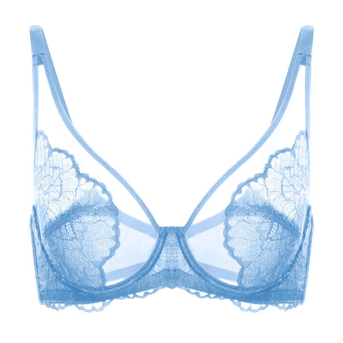 HSIA Women's Minimizer Bra Unlined Underwire Full Figure Lace Bra Plus Size Full Coverage Unpadded Bra 34C-44DDD