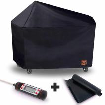 "Yukon Glory 8268 Premium Grill Cover for 22"" Weber Performer Charcoal Grills Compared to Weber 7152 Cover, Includes Grilling Kit"