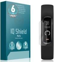 IQ Shield Matte Screen Protector Compatible with Garmin Vivosmart 4 (6-Pack) Anti-Glare Anti-Bubble Film