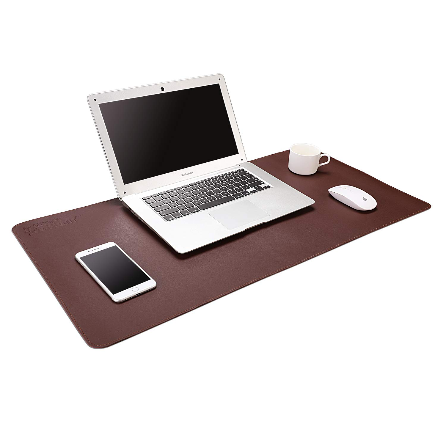 """ACSTEP Office Desk Pad Ultrathin Desk Pad Protector Waterproof PU Leather Desk Blotter Pad Desk Writing Mat Dark Brown for Office,Home 31.2""""x16"""""""
