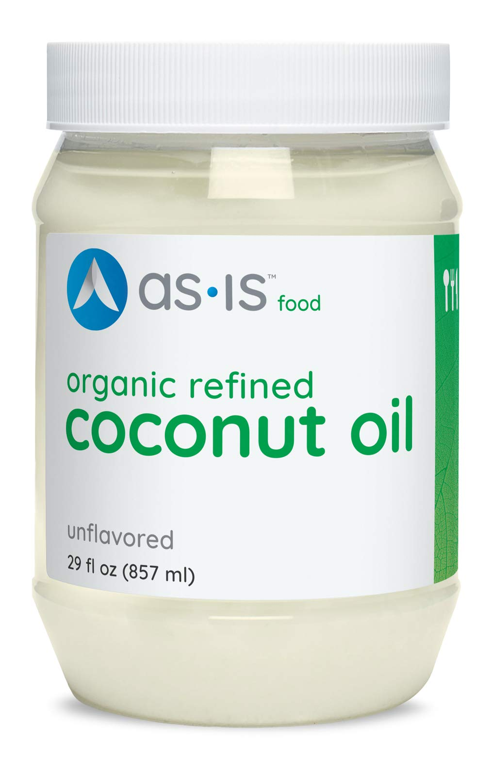 as-is Organic Refined Coconut Oil, Expeller-Pressed, Neutral Flavor & Aroma, 29 fl. oz