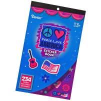 Hangable Patriotic Flip Pad Sticker Books – Ages 3+ – for Kids Crafts, Decoration, or Classroom Encouragement (Peace. Love. America, 2 Pack)