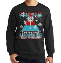Ugly Christmas Sweater Let It Snow Santa Snowman Sweater