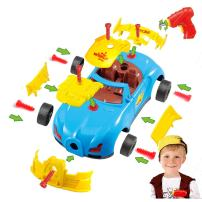 Take Apart Toy Racing Car for Toddlers, Build A Car Kit for Mini Mechanics, Sports Activity Set for Kids: Boys and Girls, Race Car with 30 Pcs., Electric Screwdriver Tool, and Real Sounds and Lights