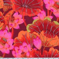 FreeSpirit Fabrics Kaffe Fassett Lake Blossoms Fabric by The Yard, Red