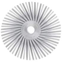 Dedeco Sunburst - 3 Inch TA Radial Bristle Discs - 3/8 Inch Arbor - Industrial Thermoplastic Rotary Cleaning and Polishing Tool, Medium 120 Grit (10 Pack)