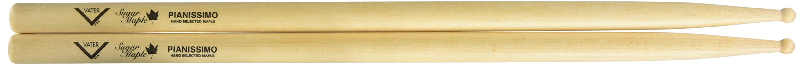 Vater VSMPIANW Sugar Maple Pianissimo Wood Tip Drum Sticks, Pair