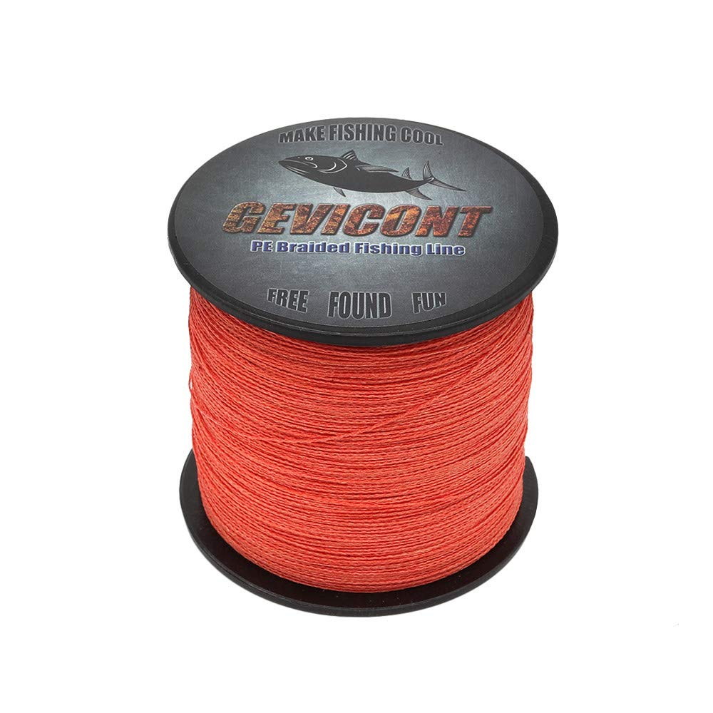 GEVICONT Braided Fishing Line 6lb-100lb Abrasion Resistant Braid Line Strong High Cost Performance Superline