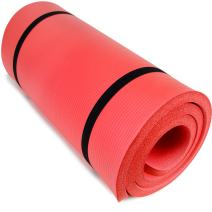 "Yoga Cloud - Extra Thick 1"" Exercise Mat with Shoulder Sling - 25mm Non-slip, Moisture-Resistant Foam Cushion for Pilates and Working Out - Ultra Balance & Support for Joint Health, & Physical Therapy"