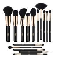 FEIYAN Makeup brushes 15pcs Professional Brush Set Premium Vegan Soft Blending EyeShadow Eyelash Eyeliner lip brushes kit