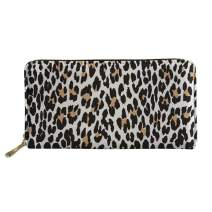 Dellukee Fashion Leather Wallet Case Women Zip Around Phone Clutch Bag Long Purse Organizer