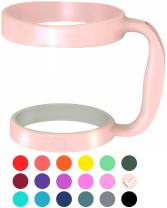 F-32 Handle - 19 COLORS - Available For 30oz or 20oz YETI, RTIC (PREVIOUS DESIGN), OZARK TRAIL, BEAST Rambler & More Tumbler Mug - BPA FREE (30OZ, COTTON CANDY PINK)