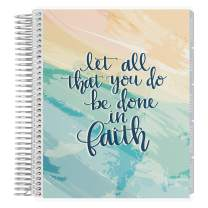Erin Condren 18 - Month 2020-2021 Faith Quote Coiled Life Planner with Layers Neutral Interior (July 2020 - December 2021) Hourly Layout. Organizer, Monthly Calendar Tabs and Stickers