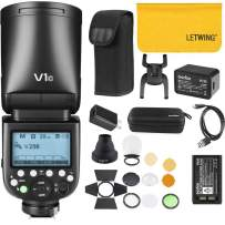 Godox V1-C 76Ws 2.4G TTL Round Head Camera Flash Speedlight with Godox AK-R1 Compatible for Canon,1/8000 HSS, 480 Full Power Shots,1.5 sec. Recycle Time,Rechargeable 2600mAh Li-ion Battery