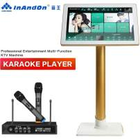 InAndOn X5, Karaoke Machine, InAndOn New Gen One-piece Type Professional Entertainment Multi Function KTV Machine with 22 inch 4K Touch Screen 8T HDD Free Infinite Cloud Download AI Function White