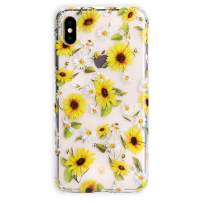 Velvet Caviar Compatible with iPhone Xs Case & iPhone X Case Sunflower Daisy for Women & Girls - Cute Clear Protective Phone Cases (Yellow Floral)