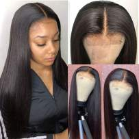 FLYBAO 4x4 Lace Front Wigs Straight Human Hair Wigs Brazilian Lace Closure Wigs for Black Women 150% Density Lace Wigs Pre Plucked with Baby Hair