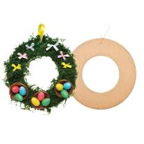 Baker Ross Hanging Round Craft Wreaths — Creative Christmas Art and Craft Supplies for Kids to Personalise and Decorate (Pack of 10)